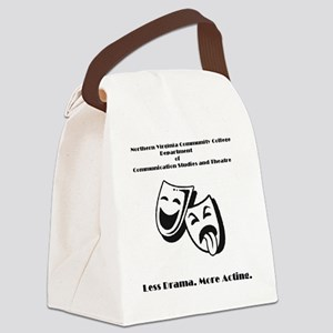 Less Drama More Acting Masks Canvas Lunch Bag
