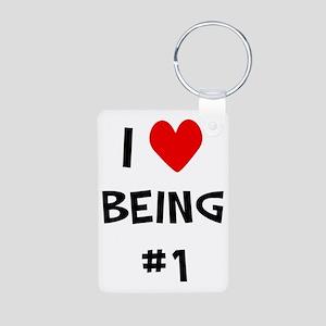 I love being #1 Aluminum Photo Keychain