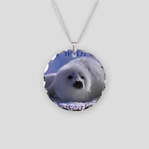 seal-kiss1 Necklace Circle Charm
