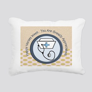 CP happy nurse week 3 Rectangular Canvas Pillow