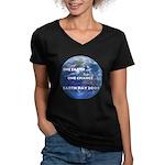 Earth Day 2009 Women's V-Neck Dark T-Shirt