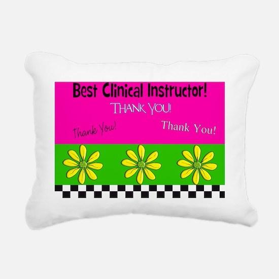 CP best clinical inst 3 Rectangular Canvas Pillow