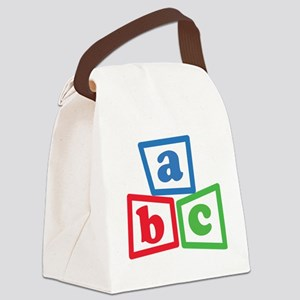 ABC Blocks Canvas Lunch Bag