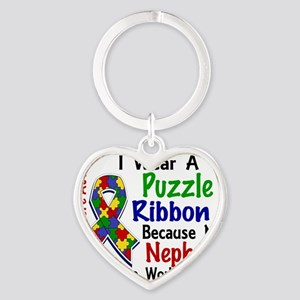D Nephew Means The World To Me Auti Heart Keychain