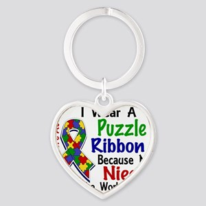 D Niece Means The World To Me Autis Heart Keychain