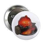 Calcifer on a log Button