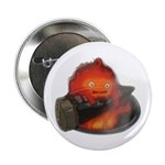 """Calcifer on a log 2.25"""" Button (100 pack)"""