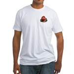 Calcifer on a log Fitted T-Shirt