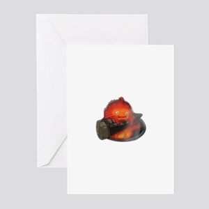Calcifer on a log Greeting Cards (Pk of 10)