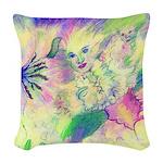 Hidden Fairy Fantasy Art Woven Throw Pillow