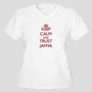 Keep Calm and TRUST Jamya Plus Size T-Shirt