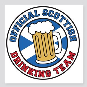"Official Scottish Drinki Square Car Magnet 3"" x 3"""