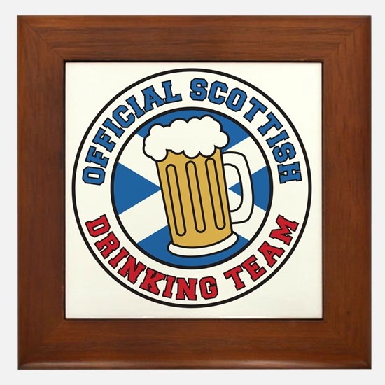 Official Scottish Drinking Team Framed Tile