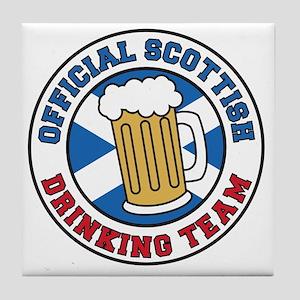 Official Scottish Drinking Team Tile Coaster