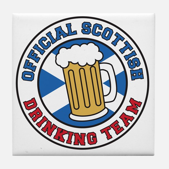 Official Scottish Drinking Team Tile Coaster