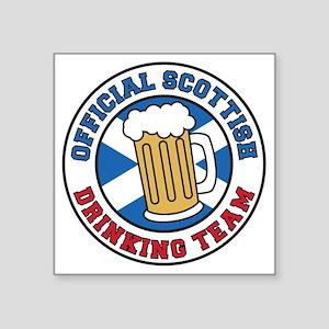 """Scottish Drinking Team Glas Square Sticker 3"""" x 3"""""""