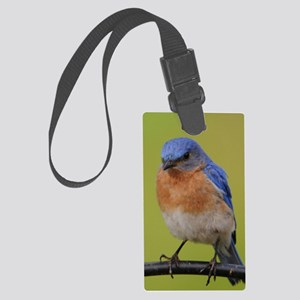 1100x1500eastern bluebird Large Luggage Tag