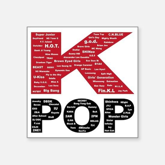 "KPOP_artists Square Sticker 3"" x 3"""