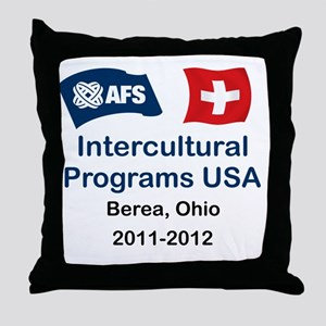 AFS_SWISS_2012 Throw Pillow
