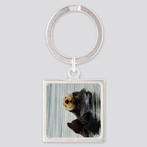 TabletCases_seaotter_2 Square Keychain