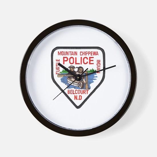 Chippewa Police Wall Clock