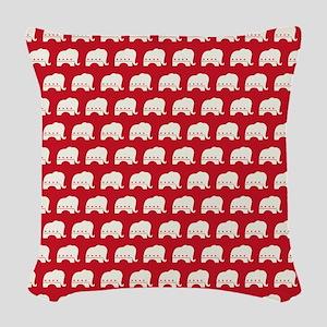 showercurtain - rep Woven Throw Pillow