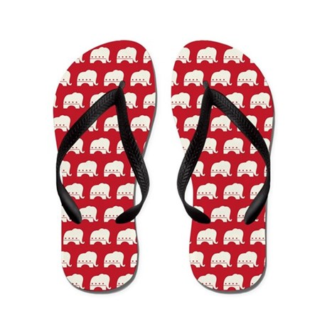showercurtain - rep Flip Flops