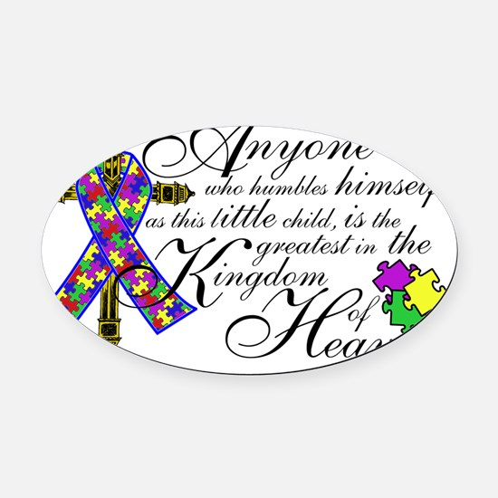 autism_cross copy Oval Car Magnet