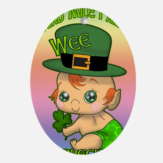 100-THOUSAND-WELCOMES-WEE-LEPRECHAUN Oval Ornament