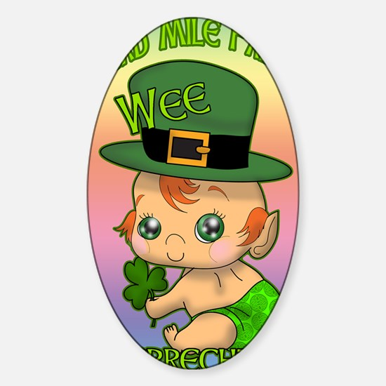 100-THOUSAND-WELCOMES-WEE-LEPRECHAU Sticker (Oval)