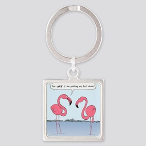 flamingosnook Square Keychain