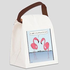 flamingosnook Canvas Lunch Bag