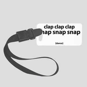 clap_clap_clap Small Luggage Tag