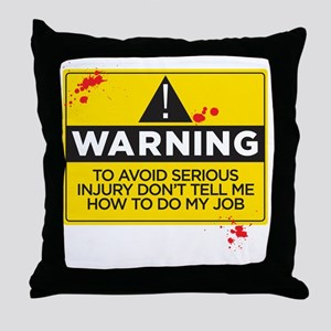 AVOIDINJURY copy Throw Pillow