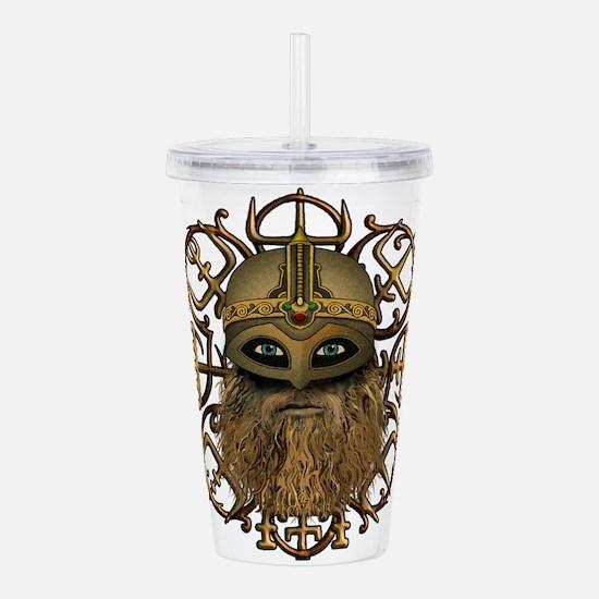 Viking Vegvisir Acrylic Double-wall Tumbler