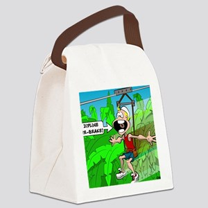 air break cropped Canvas Lunch Bag