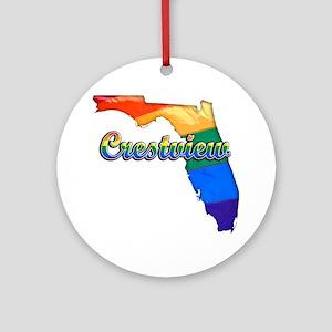 Crestview Round Ornament