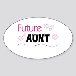 Future Aunt Oval Sticker