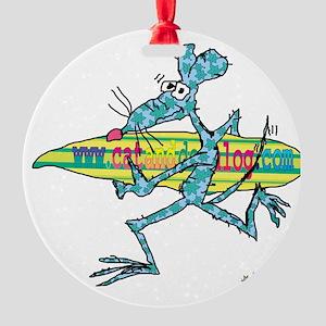 cafe messenger bag Round Ornament