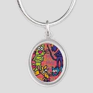 fb-recieptlogo Silver Oval Necklace