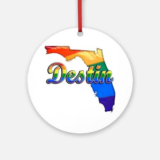 Destin Round Ornament