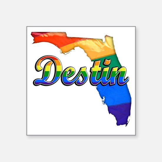 "Destin Square Sticker 3"" x 3"""