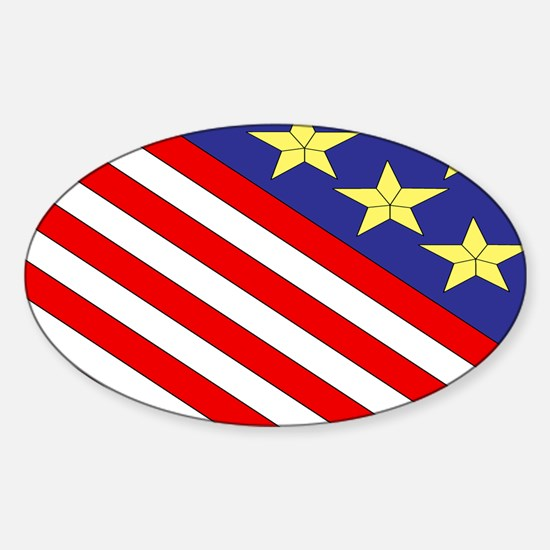 Quilt Design V-150 Laptop Sticker (Oval)