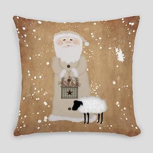Primitive Santa Everyday Pillow