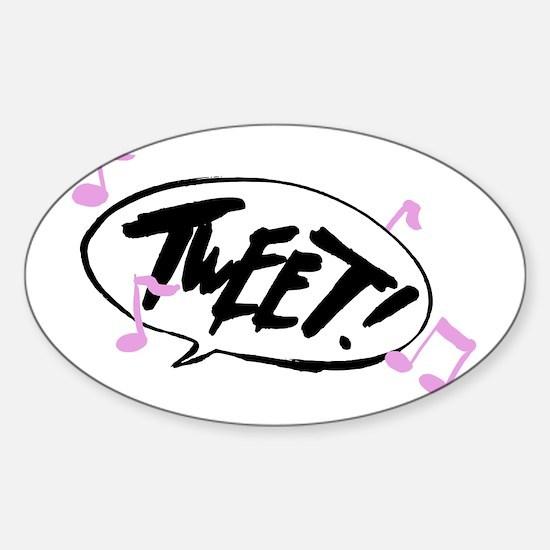 tweet1 Sticker (Oval)