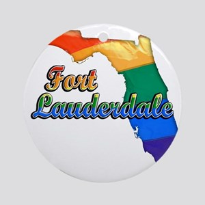 Fort Lauderdale Round Ornament