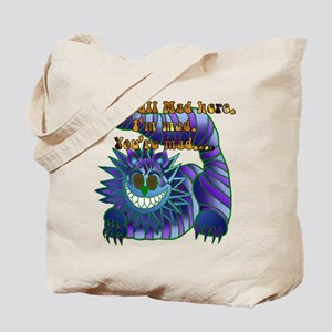 Mad Cheshire Cat Jade Tote Bag