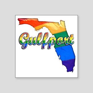 "Gulfport Square Sticker 3"" x 3"""