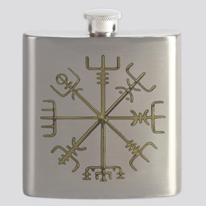 Gold Vegvisir - Viking Compass Flask