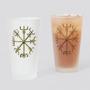 Gold Vegvisir - Viking Compass Drinking Glass